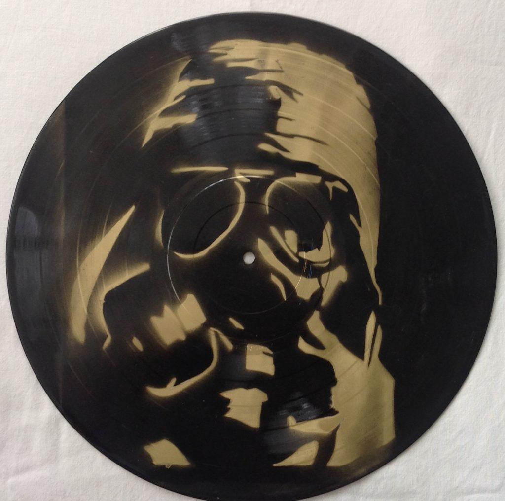 Sjabloon spraypaint on vinyl